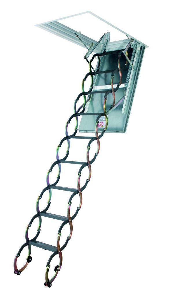 Fakro Attic Ladder (Scissor Inchsulated) LST 27x31 300lbs 9Feet6Inch