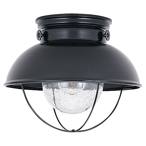 1-Light Outdoor Ceiling Fixture in Black