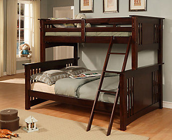 Worldwide Homefurnishings Inc Stratford Twin Over Double Bunk The