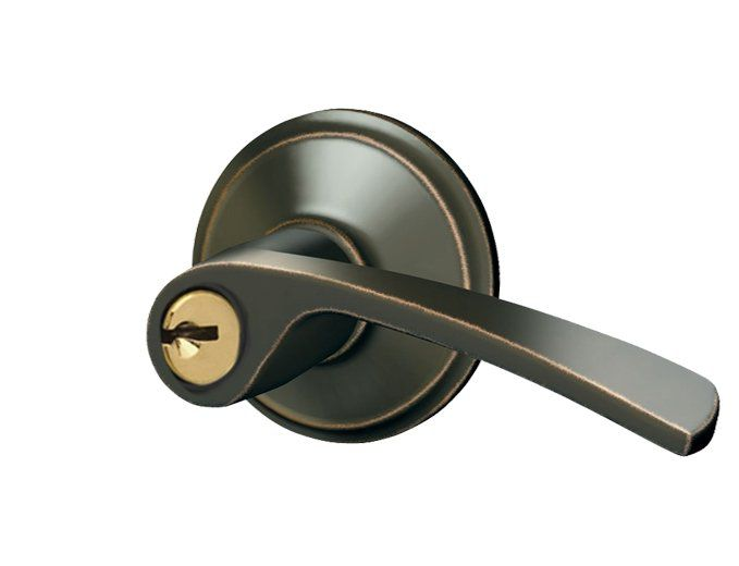 Merano Aged Bronze Keyed Lever Door Lock 770 Canada Discount