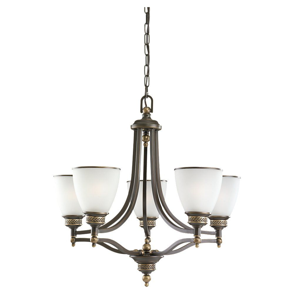 5-Light Estate Bronze Chandelier