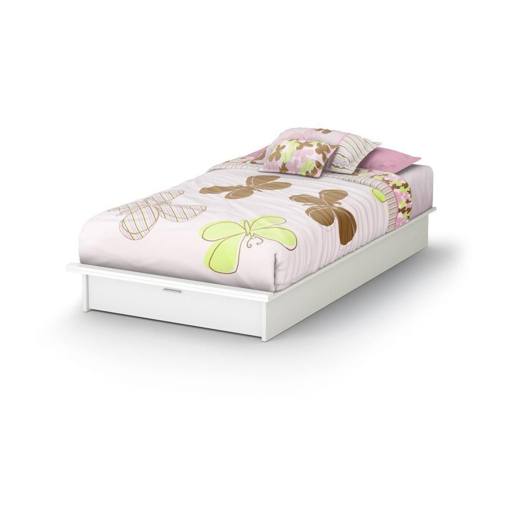 South Shore Twin 39-inch Storage Bed Pure White