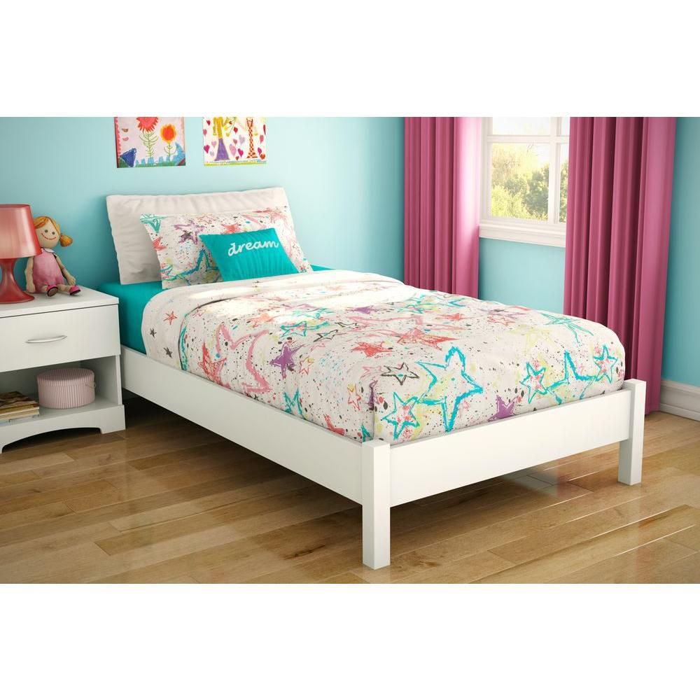 South Shore Sandbox Twin 39-inch Bed Pure White