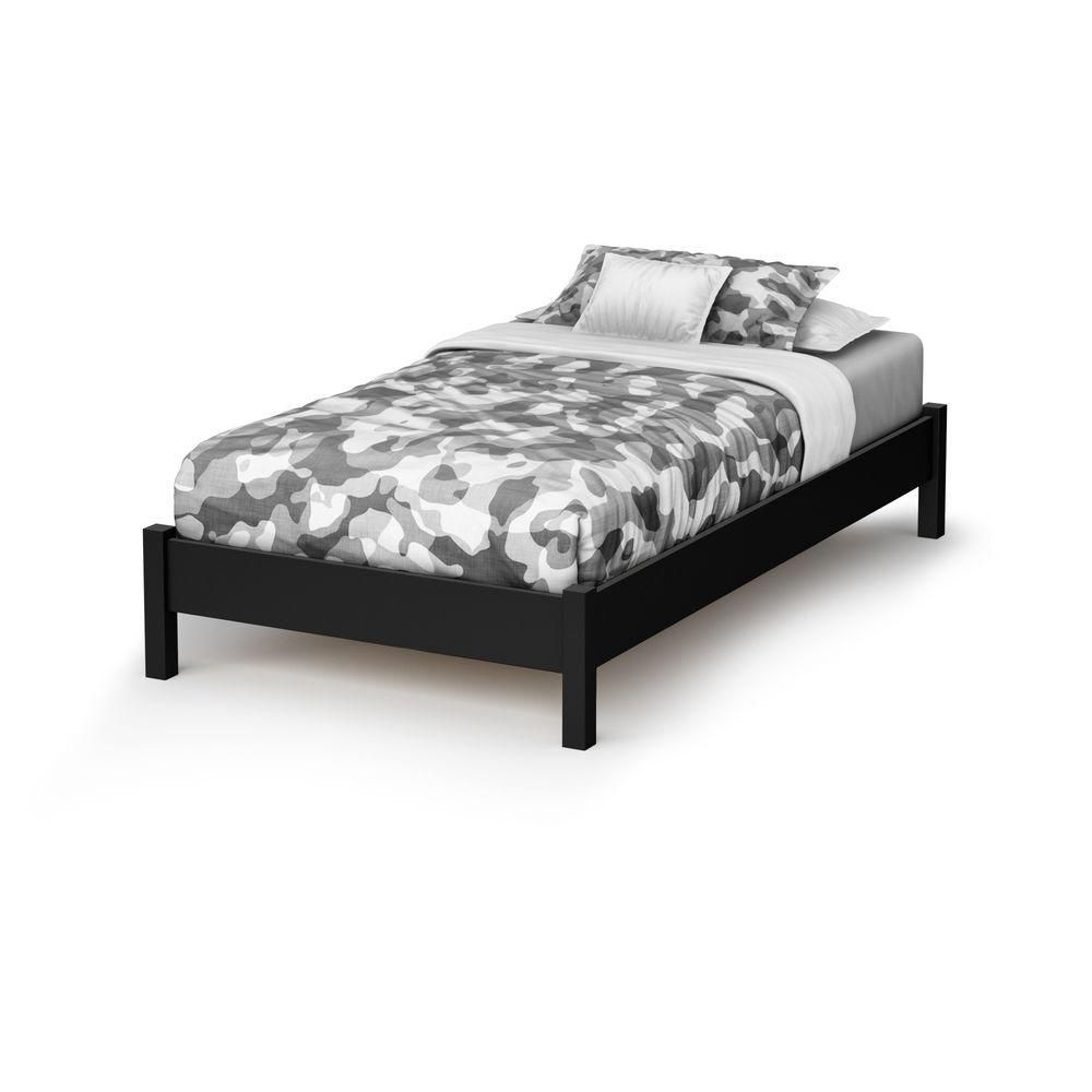 South Shore Sandbox Twin 39-inch bed Pure Black
