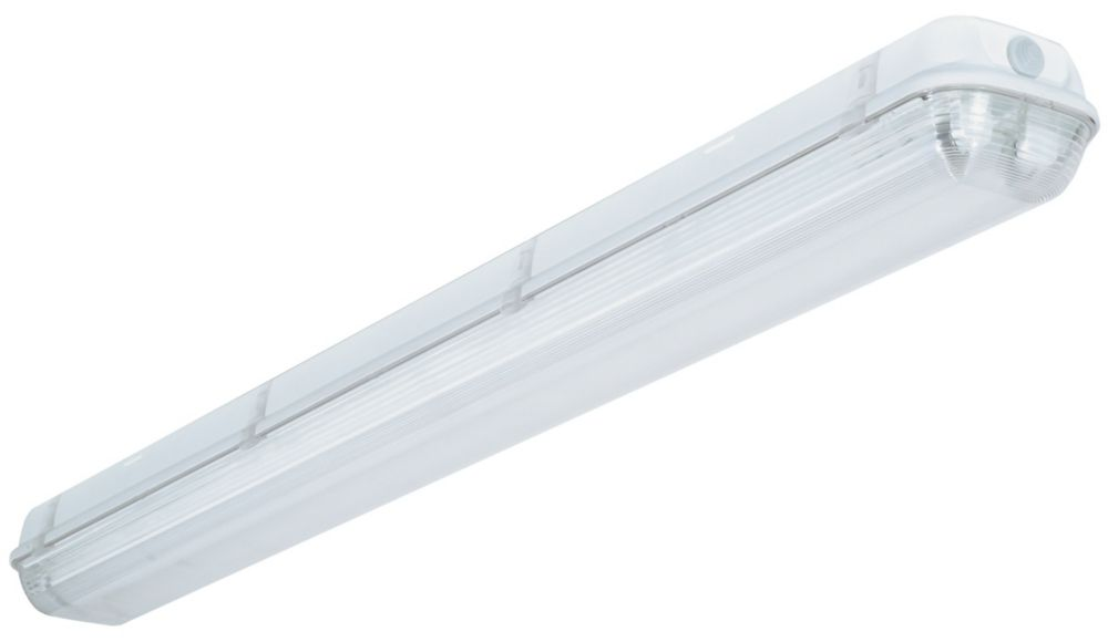 Lithonia Lighting Industrial 2 Light White Outdoor Fluorescent Hanging Fixture The Home Depot
