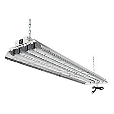 4 ft T8 4L 32W Grid Shop Light