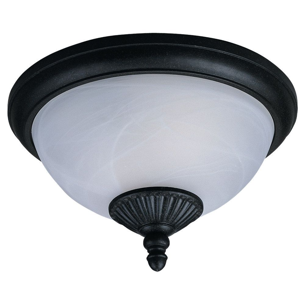 Sea Gull Lighting 2 Light Forged Iron Outdoor Ceiling Fixture The Home Depot Canada