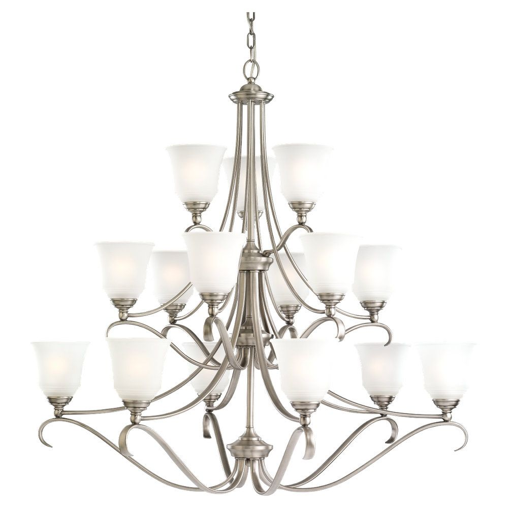 15-Light Antique Brushed Nickel Chandelier