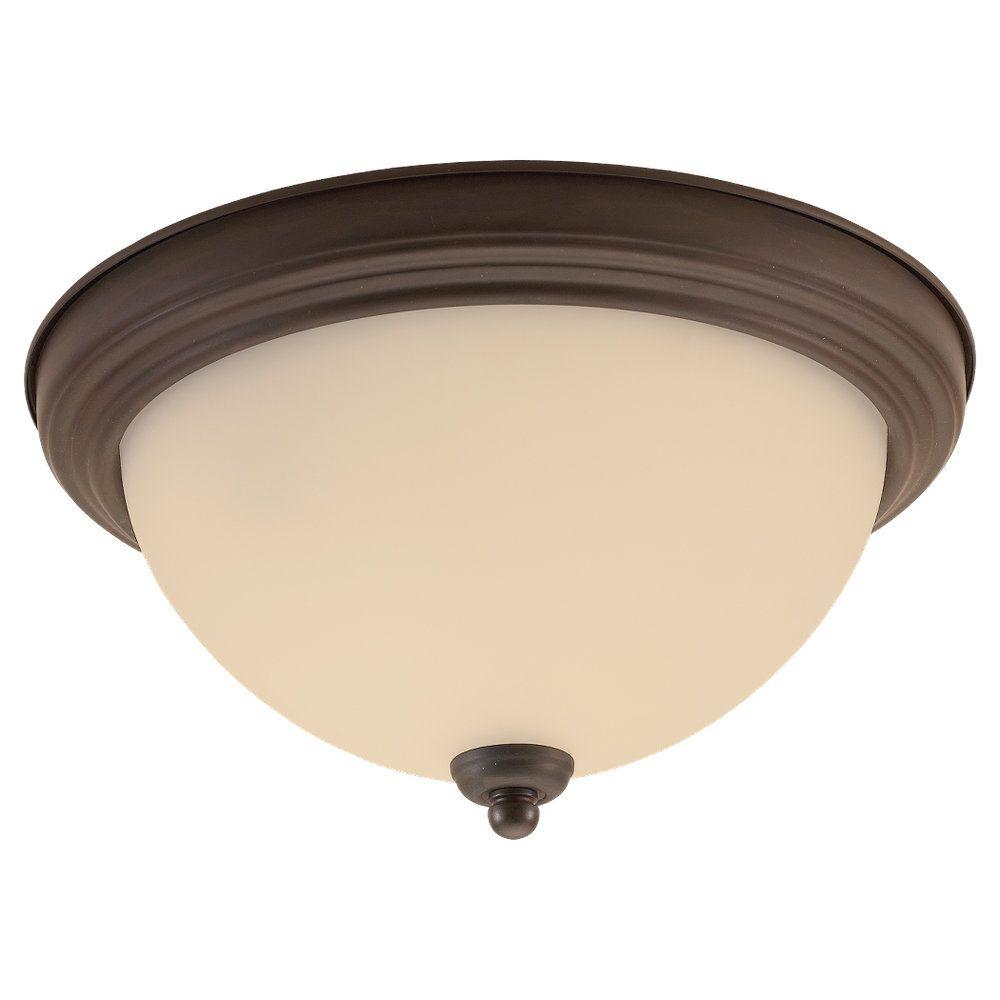 3-Light Misted Bronze Ceiling Fixture