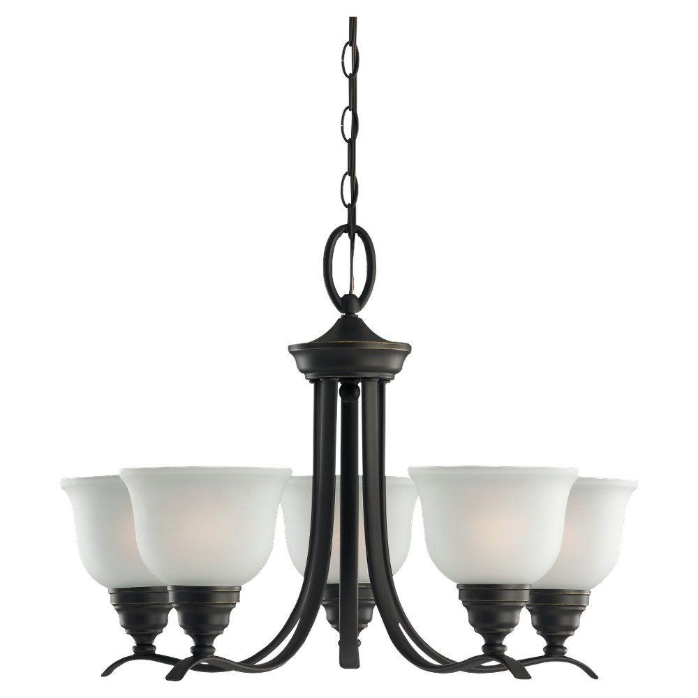 5-Light Heirloom Bronze Chandelier