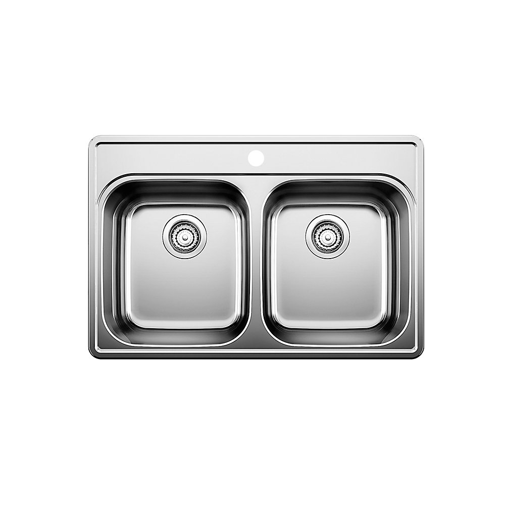 Stainless Steel Top Mount Kitchen Sink 1 Hole