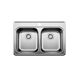 Blanco Stainless Steel Top Mount Kitchen Sink, 1-Hole | The Home ...