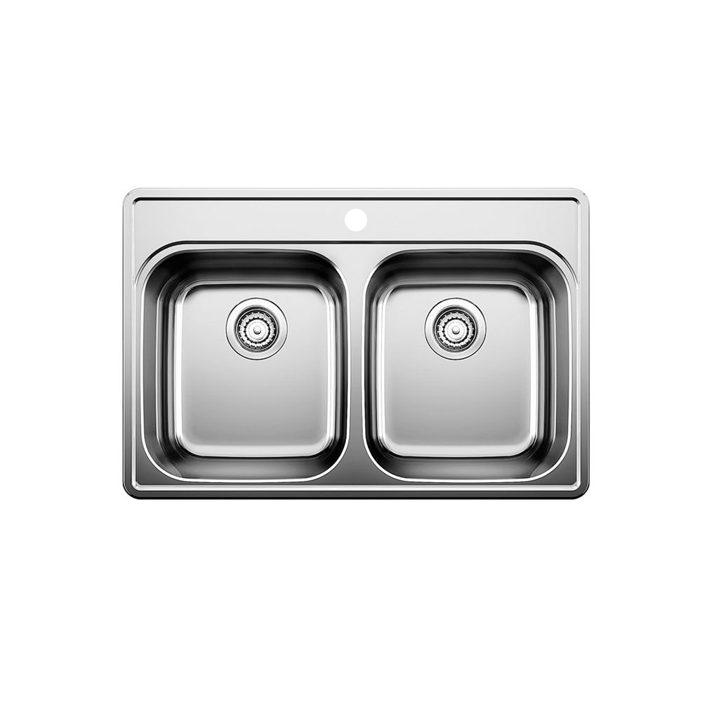 Stainless Steel Topmount Kitchen Sink, 1-Hole