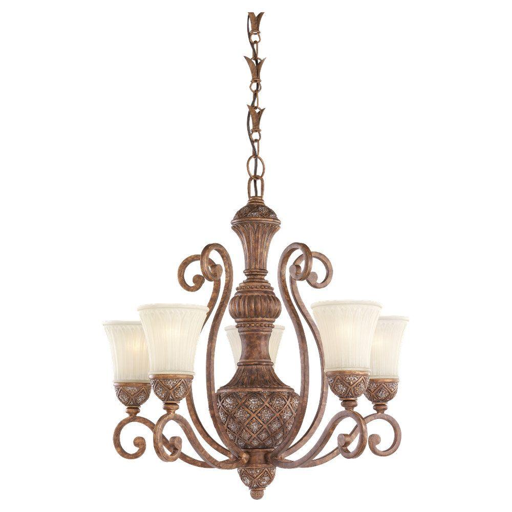 5-Light Regal Bronze Chandelier