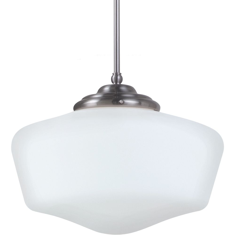 1 Light Brushed Nickel Incandescent Pendant