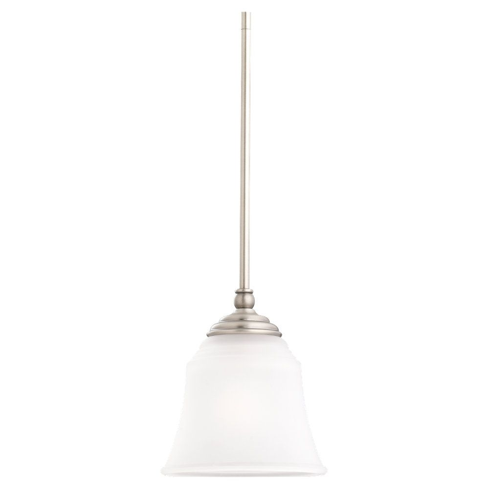 1-Light Antique Brushed Nickel Pendant