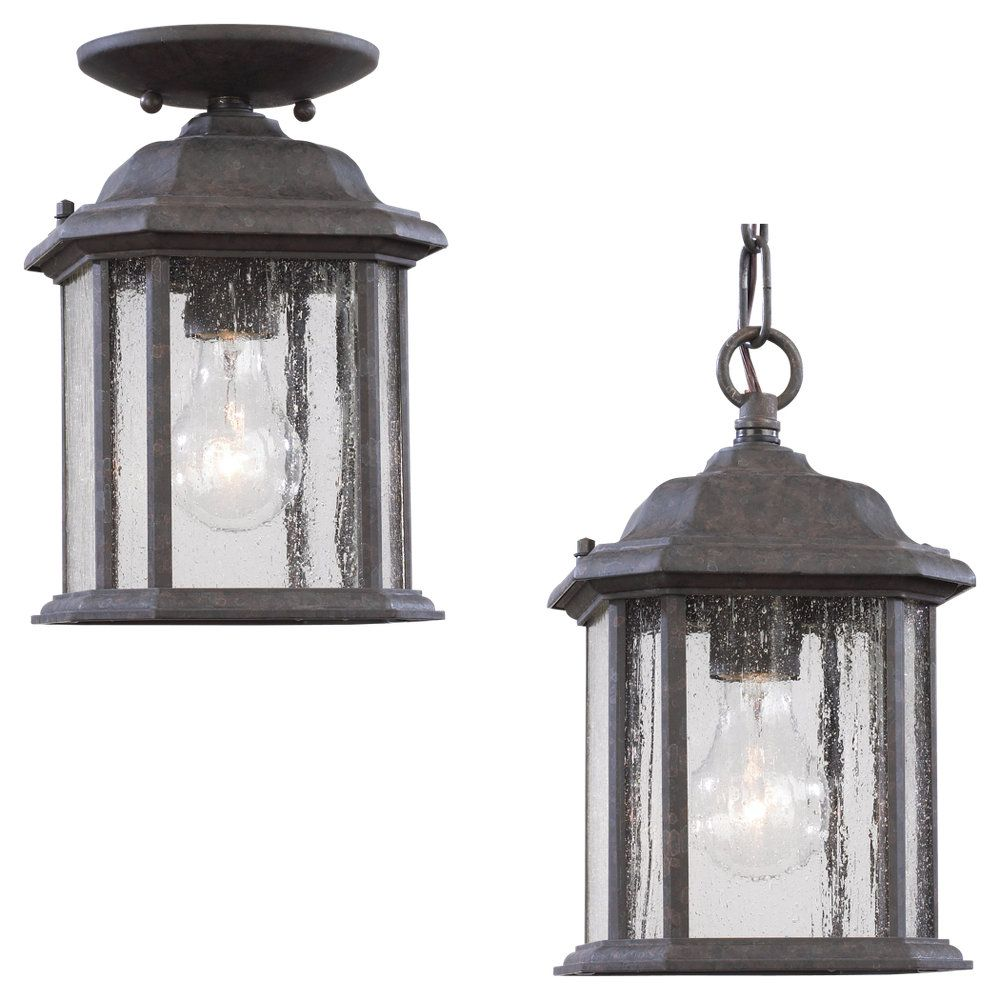Sea Gull Lighting 1-Light Oxford Bronze Outdoor Pendant