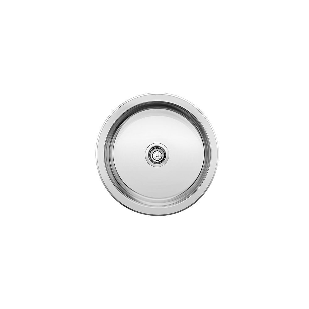 Round Single Bowl Stainless Steel Bar Sink