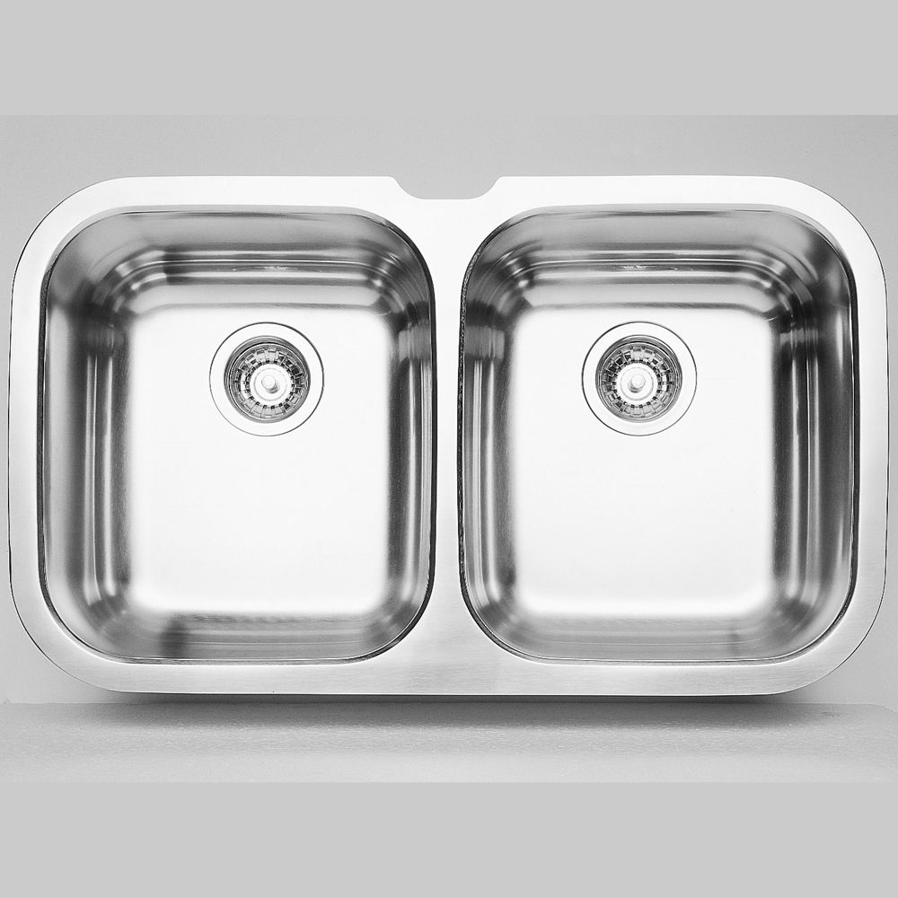 2 Bowl Undermount Stainless Steel Kitchen Sink