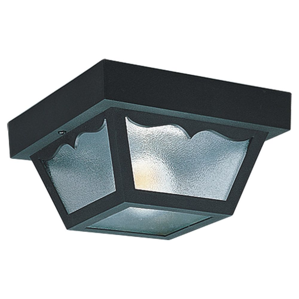 2-Light Clear Outdoor Ceiling Fixture