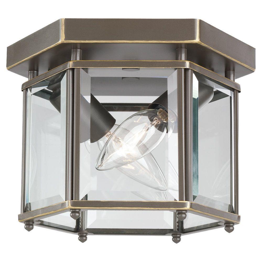 2-Light Heirloom Bronze Ceiling Fixture