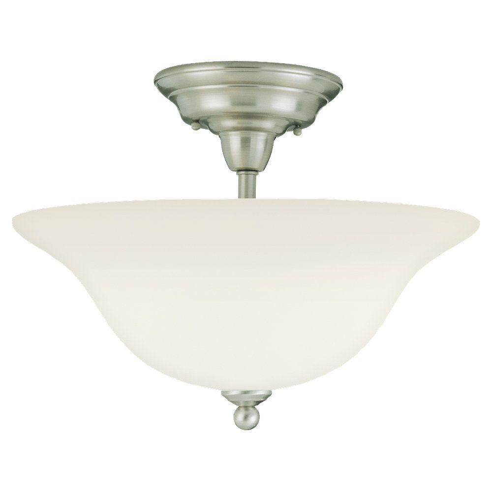 3 Light Brushed Nickel Incandescent Ceiling Fixture