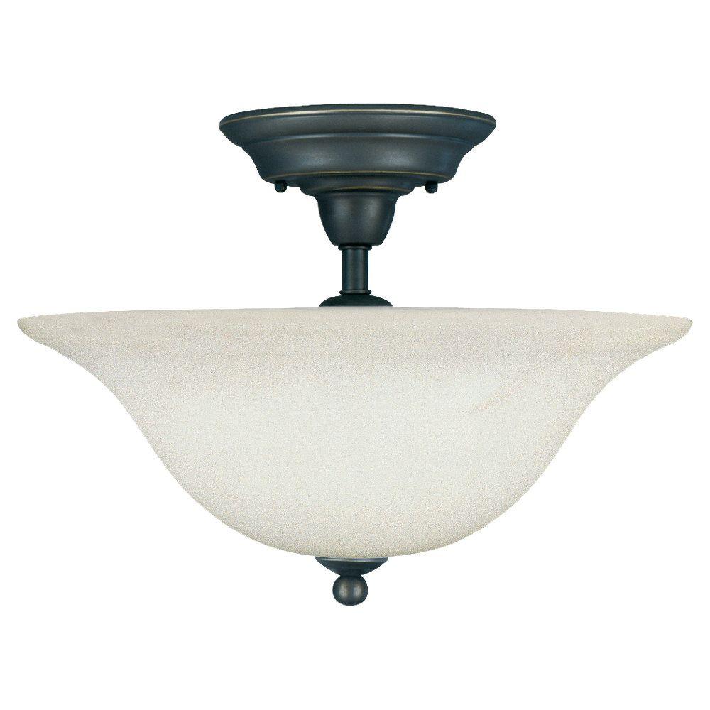 3-Light Heirloom Bronze Ceiling Fixture