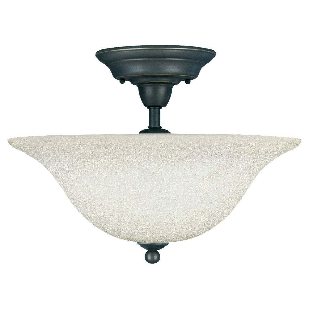 3-Light Heirloom Bronze Ceiling Fixture
