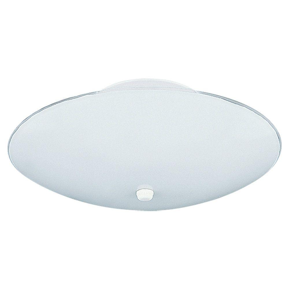 3-Light White Ceiling Fixture