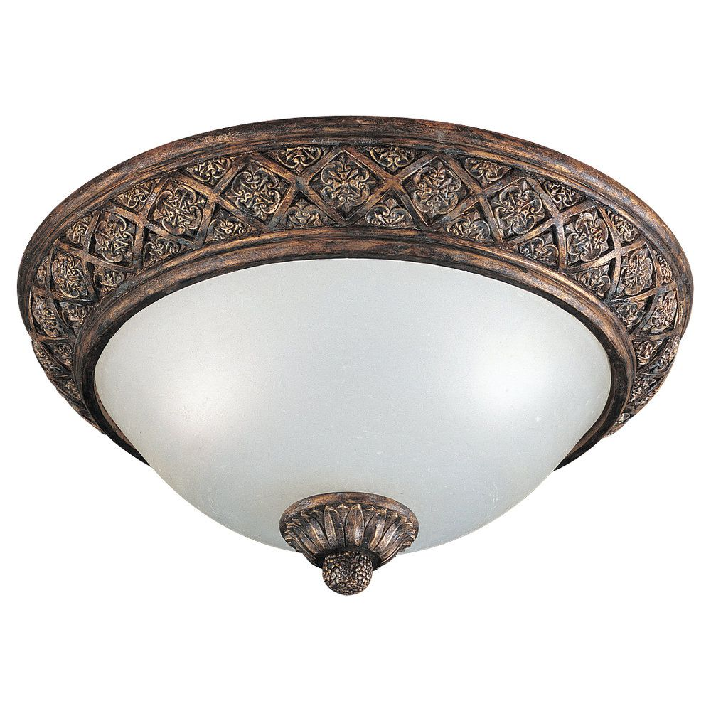 2-Light Regal Bronze Ceiling Fixture