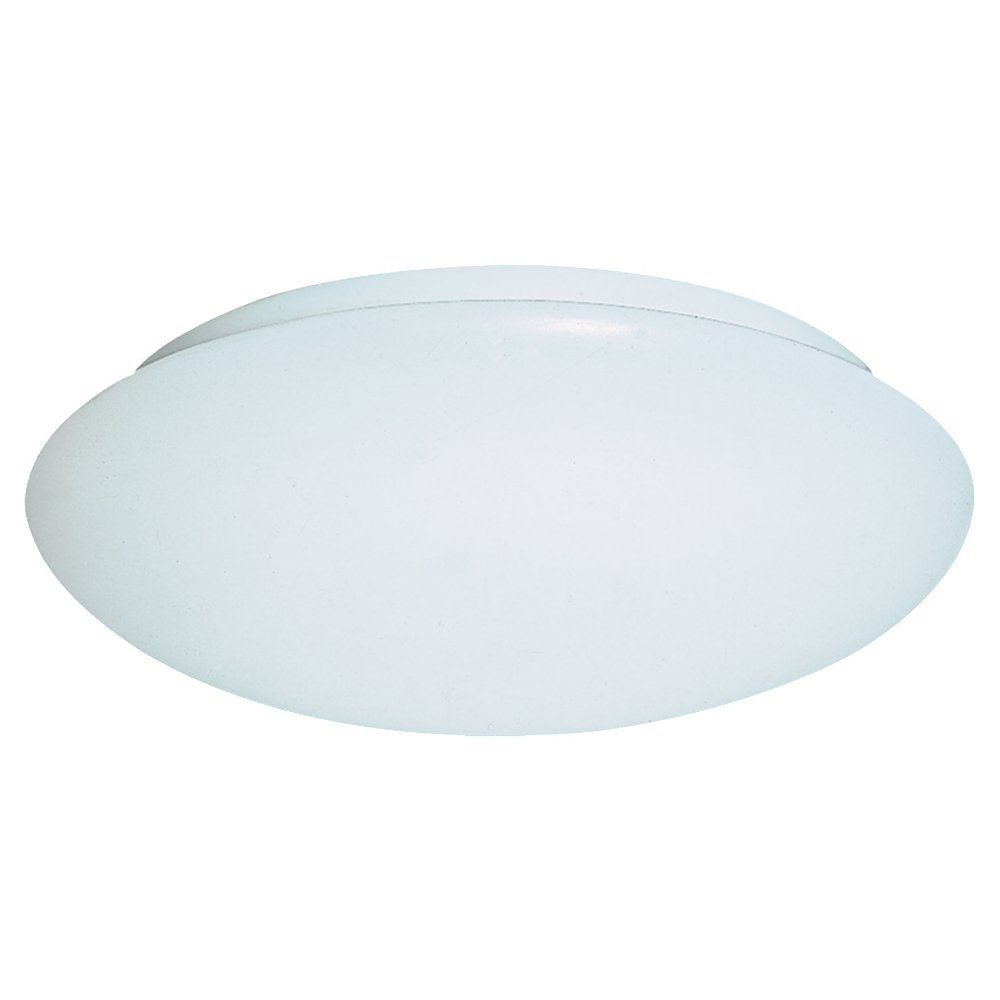 Plafonnier Seagull à trois ampoules avec abat-jour blanc, Fini blanc