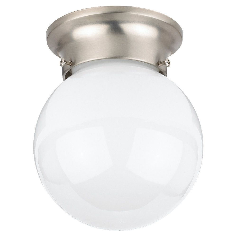1-Light Brushed Nickel Ceiling Fixture
