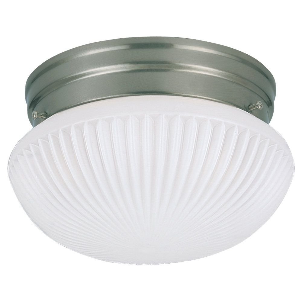 Sea Gull Lighting 1 Light Brushed Nickel Fluorescent Ceiling Fixture