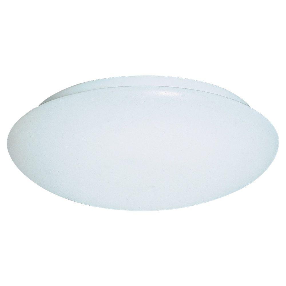 Plafonnier Seagull à deux ampoules avec abat-jour blanc, Fini blanc