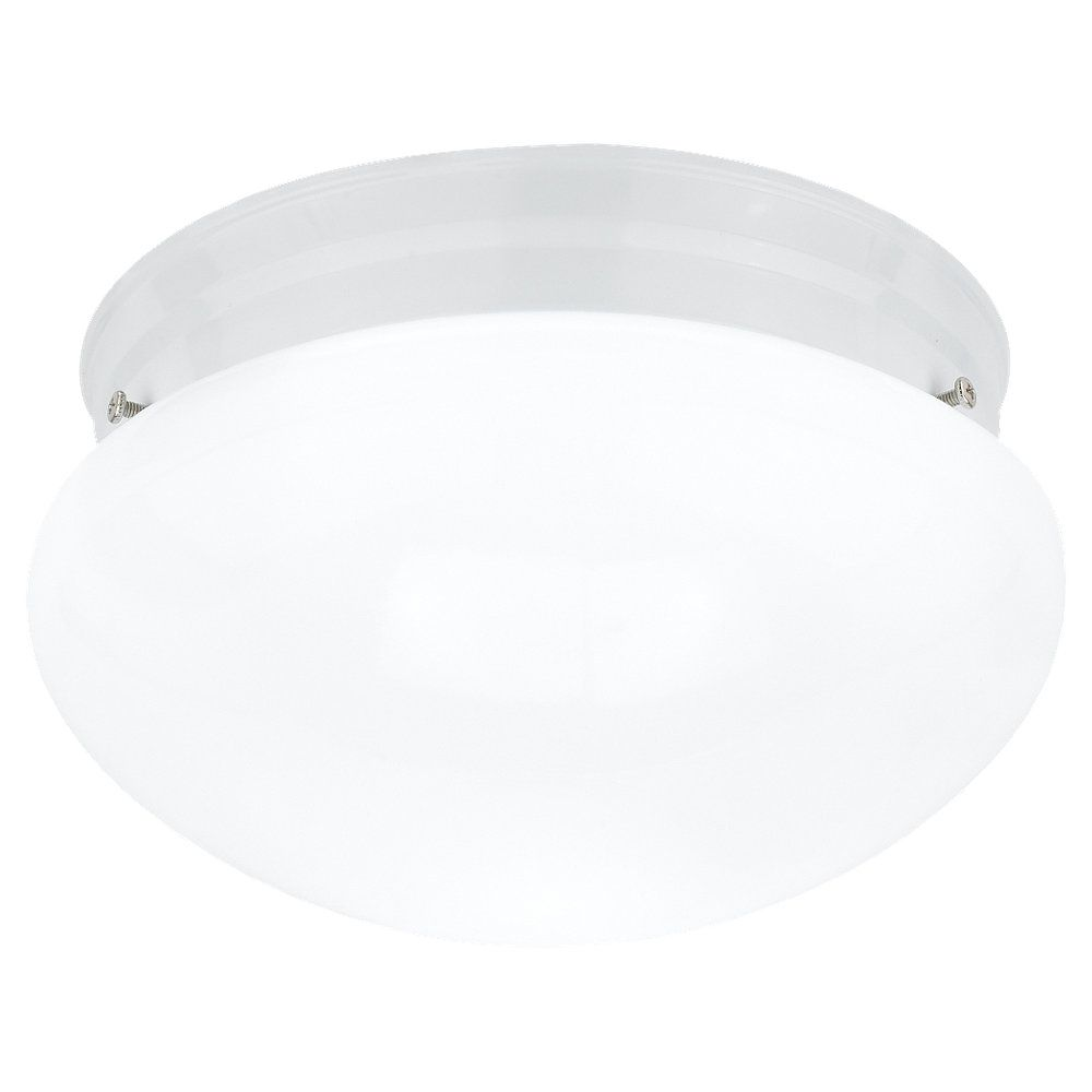 1-Light White Ceiling Fixture