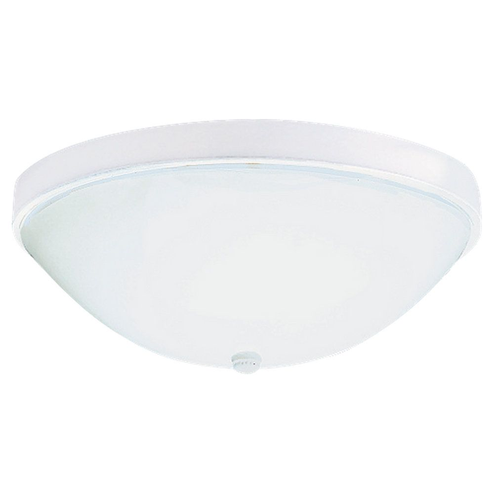 2 Light White Fluorescent Ceiling Fixture