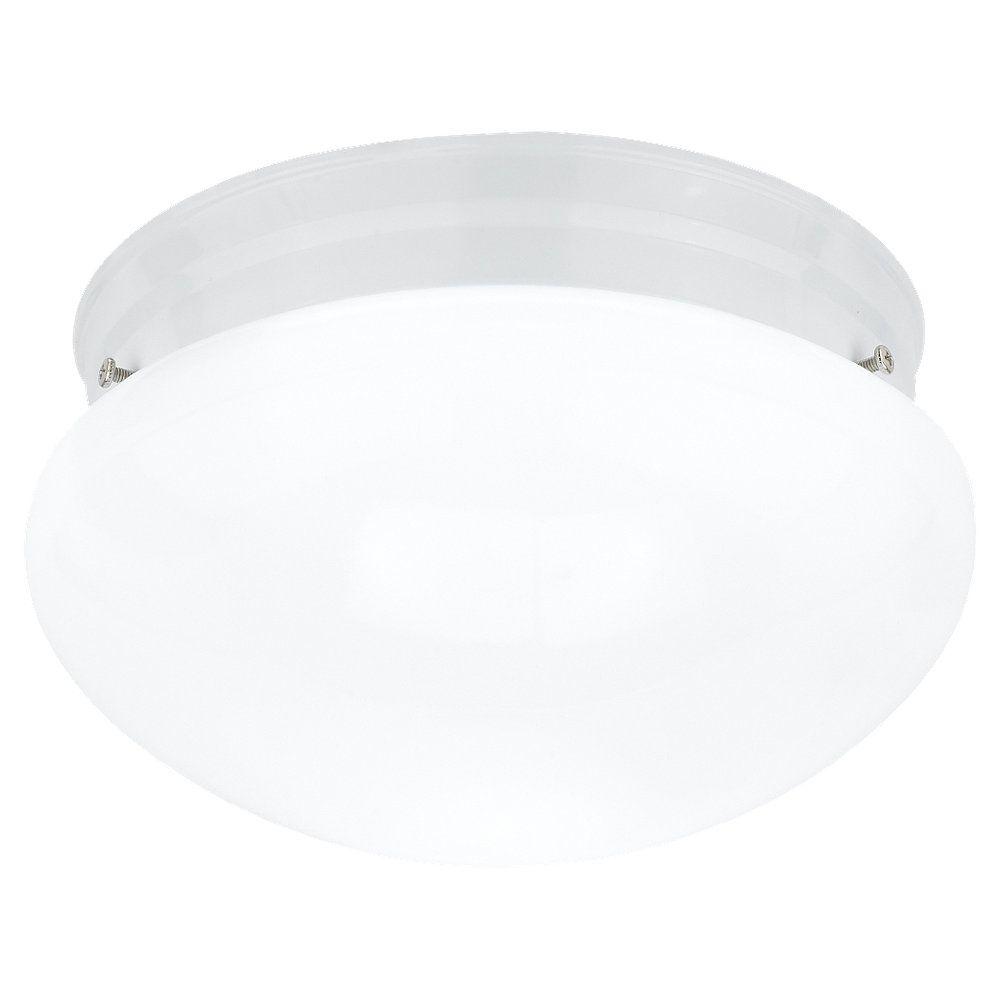 2-Light White Ceiling Fixture