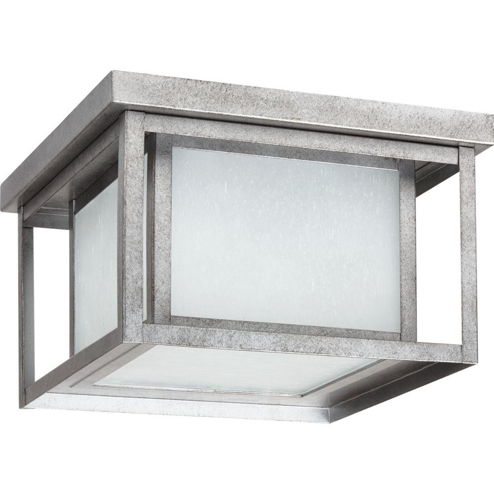2 lumières intempéries Pewter fluorescent encastré extérieur