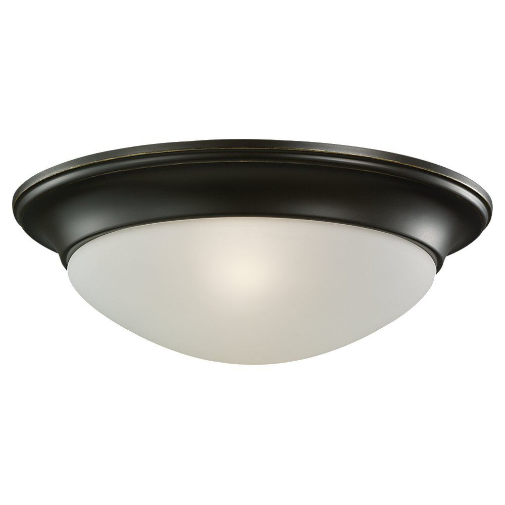 1-Light Heirloom Bronze Flush Mount