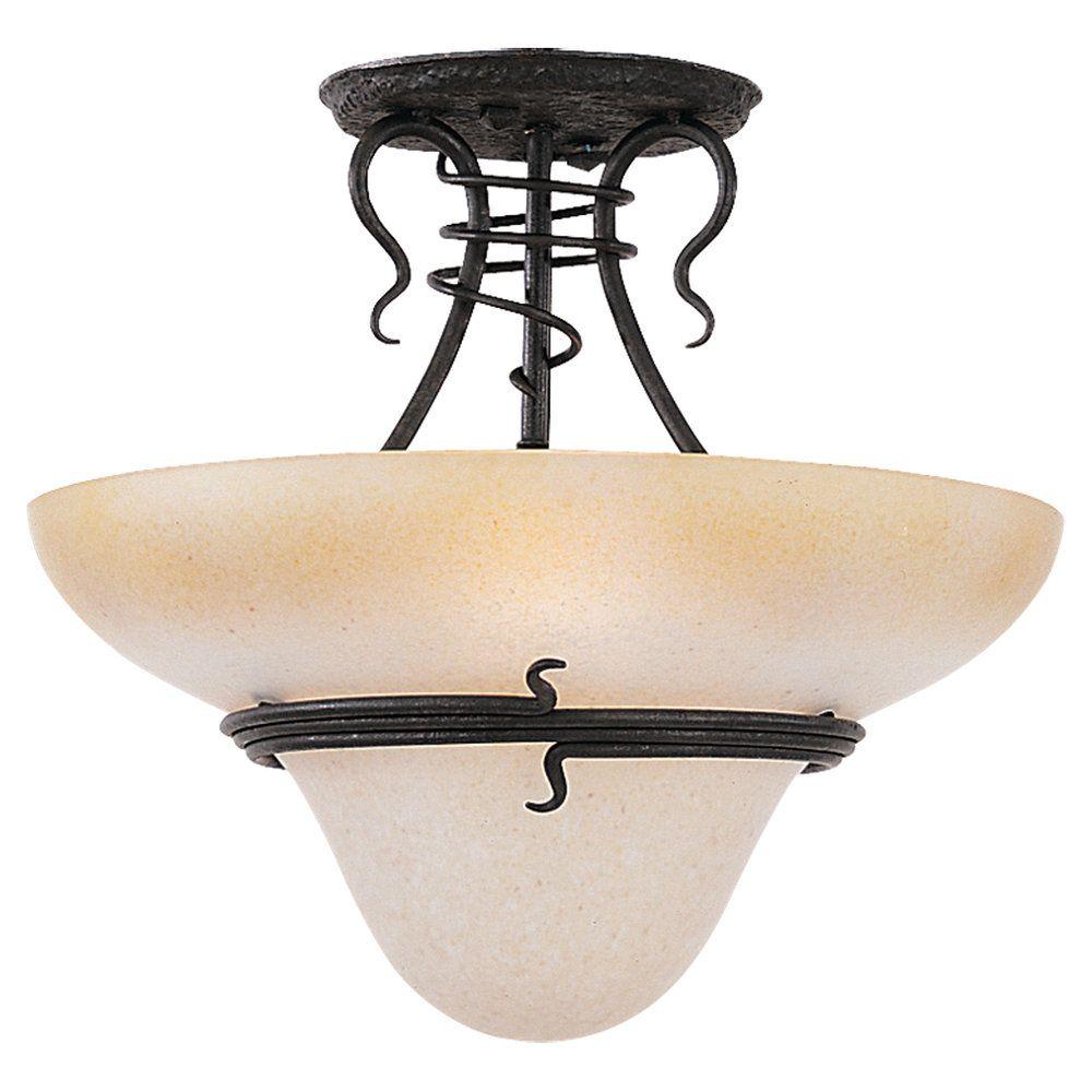 Plafonnier Seagull à trois ampoules avec abat-jour de spécialité, finition de spécialité