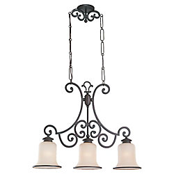 Sea Gull Lighting 3 lumières Bronze Chandelier Misted incandescence