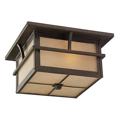 Statuary 2-Light Outdoor Ceiling Fixture in Bronze