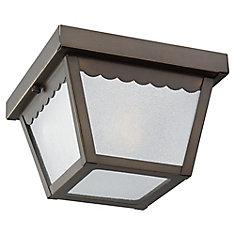 1-Light Antique Bronze Outdoor Ceiling Fixture