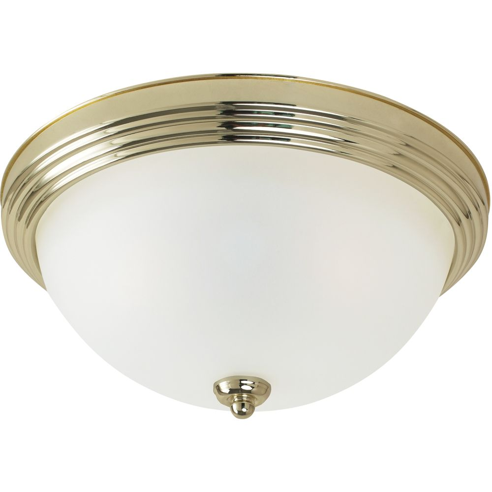 1-Light Polished Brass Ceiling Fixture