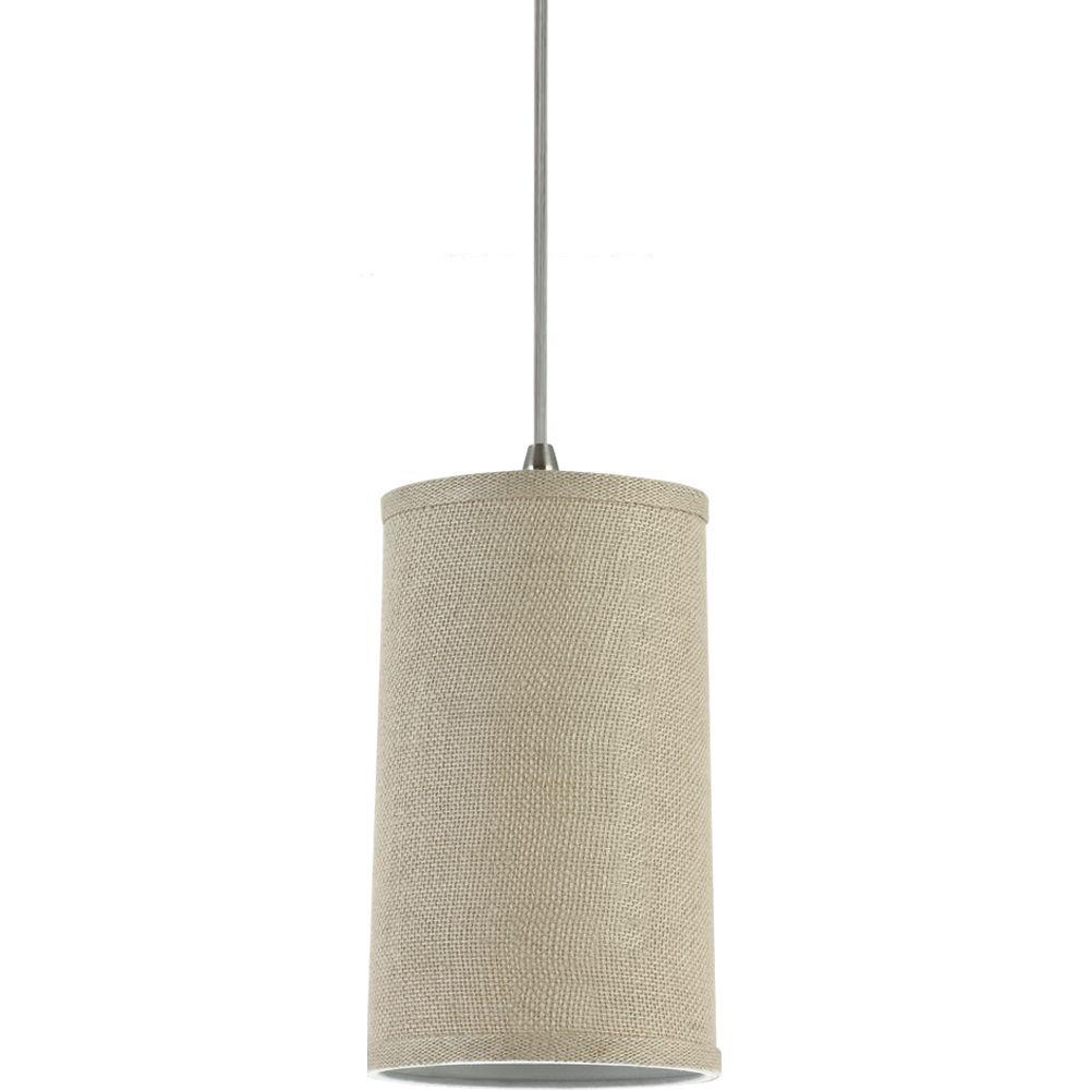 1 Light Burlap Incandescent Pendant
