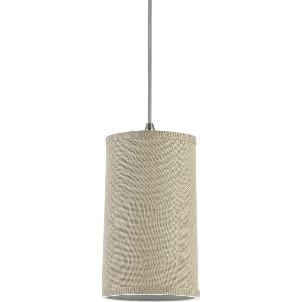1-Light Burlap Pendant