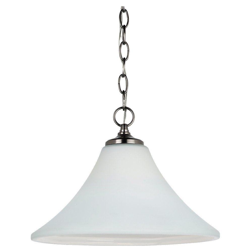 1-Light Antique Brushed Nickel Pendant