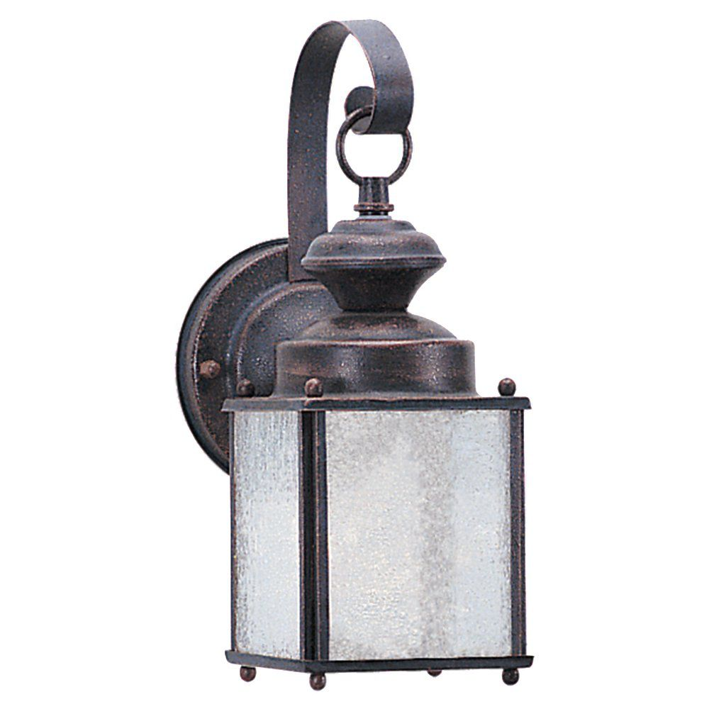 1 Light Textured Rust Patina Fluorescent Outdoor Wall Lantern