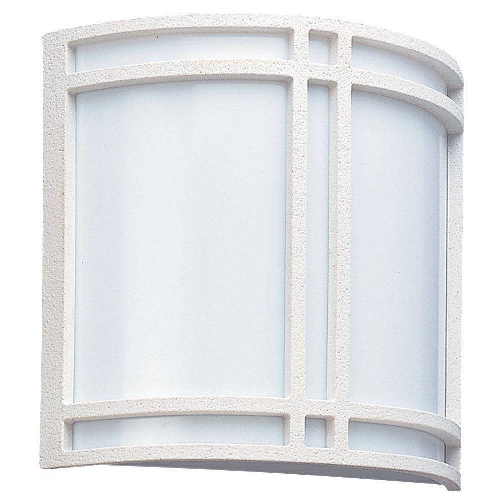 Lumière Seagull fixée au mur à deux ampoules avec abat-jour blanc, Fini blanc