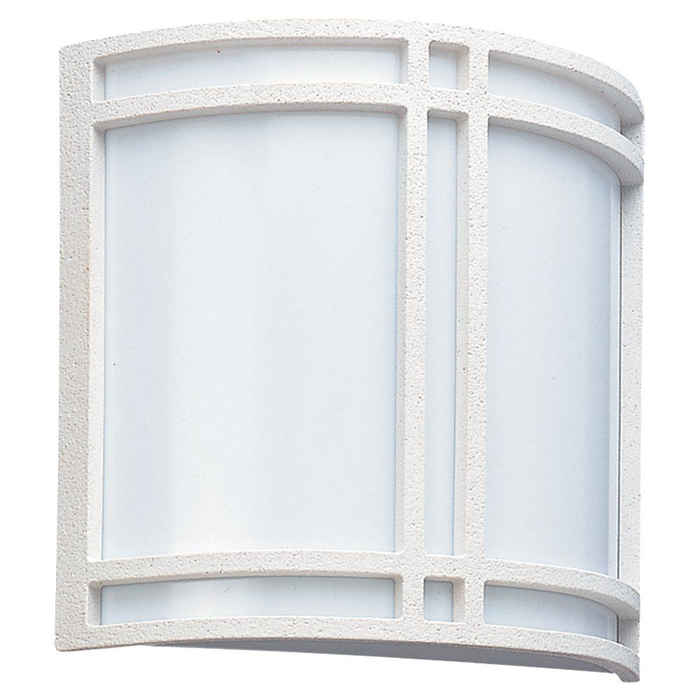 2 Light White Fluorescent Outdoor Wall Lantern